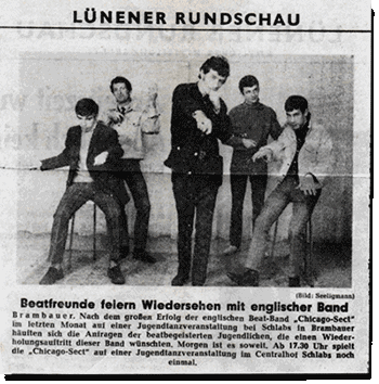 German newspaper clipping